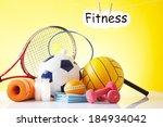 fitness equipment | Shutterstock . vector #184934042