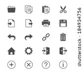 application toolbar flat icons | Shutterstock .eps vector #184934756