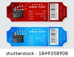 cinema ticket  red and blue... | Shutterstock .eps vector #1849358908