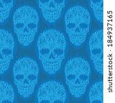 blue file skull pattern | Shutterstock .eps vector #184937165