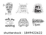 set of hand drawn adventure... | Shutterstock .eps vector #1849422622