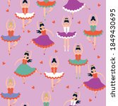 seamless pattern with... | Shutterstock .eps vector #1849430695