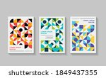 colorful mosaic covers flyer... | Shutterstock .eps vector #1849437355