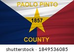 flag of paolo pinto county ... | Shutterstock . vector #1849536085