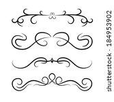 calligraphic design element set.... | Shutterstock .eps vector #184953902