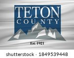 flag of teton county  wyoming ... | Shutterstock . vector #1849539448