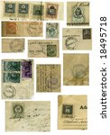 vintage stamp collection from... | Shutterstock . vector #18495718
