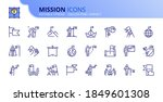 outline icons about mission.... | Shutterstock .eps vector #1849601308
