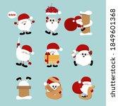 collection of happy santa... | Shutterstock .eps vector #1849601368