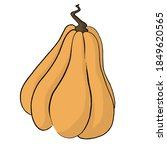bright juicy long yellow pot...   Shutterstock . vector #1849620565
