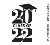 2022 class of with graduation... | Shutterstock .eps vector #1849621858