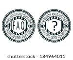 frequently asked question....   Shutterstock .eps vector #184964015