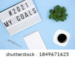 plans for the coming year... | Shutterstock . vector #1849671625