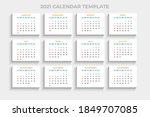 calendar 2021 template. week... | Shutterstock .eps vector #1849707085