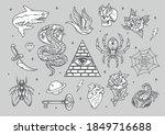 vintage tattoos composition...   Shutterstock .eps vector #1849716688