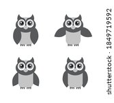 owl icon set  isolated on white ... | Shutterstock .eps vector #1849719592
