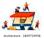 illustration of e commerce...