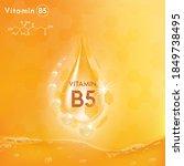 drop vitamin b5 complex poly... | Shutterstock .eps vector #1849738495