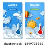 vertical posters set with... | Shutterstock .eps vector #1849739362