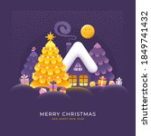 merry christmas and happy new... | Shutterstock .eps vector #1849741432