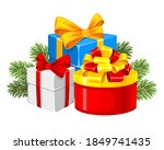 set of christmas and new year... | Shutterstock .eps vector #1849741435