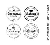 bakery and cupcakes badges | Shutterstock .eps vector #184974305