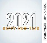 2021 happy new year  minimalist ...   Shutterstock .eps vector #1849774822