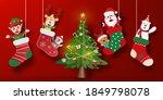 Christmas Postcard Banner Of...