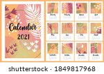 Calendar For 2021. Fashionable...