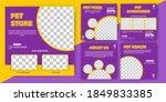set of editable square banner... | Shutterstock .eps vector #1849833385
