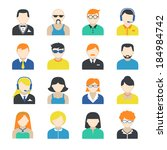avatar pictograms social... | Shutterstock .eps vector #184984742