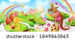 landscape with sweets. cartoon... | Shutterstock .eps vector #1849863865