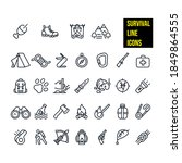 survival line icons stock... | Shutterstock .eps vector #1849864555