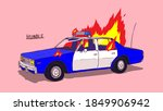 abandon vintage police car on... | Shutterstock .eps vector #1849906942