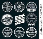 ribbon and badge vector sets | Shutterstock .eps vector #184991462