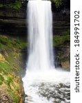 minnehaha falls in minneapolis... | Shutterstock . vector #184991702