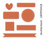 set of stitched grosgrain...   Shutterstock .eps vector #184993418