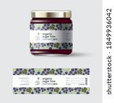 black currant jam label and... | Shutterstock .eps vector #1849936042