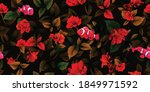 Stylized Seamless Floral...