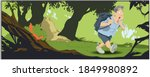 nature landscape. tourist got...   Shutterstock .eps vector #1849980892