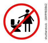 the woman throws the sanitary...   Shutterstock .eps vector #1849983862