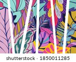 illustration of colorful floral ... | Shutterstock . vector #1850011285