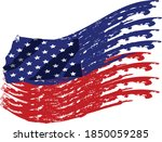 american flag.vector flag of usa | Shutterstock .eps vector #1850059285