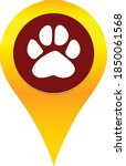 vector paw and map pointer logo | Shutterstock .eps vector #1850061568