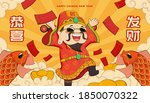 chinese new year poster with... | Shutterstock .eps vector #1850070322
