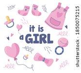 baby shower item design... | Shutterstock .eps vector #1850075215