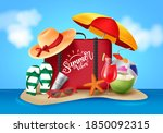 summer vector banner design....   Shutterstock .eps vector #1850092315
