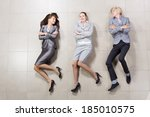 young people in business suits...   Shutterstock . vector #185010575