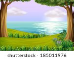 illustration of the land and... | Shutterstock .eps vector #185011976