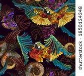 Embroidery. Seamless Pattern....